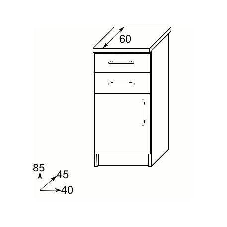 IGA - Szafka dolna 40 - szuflady