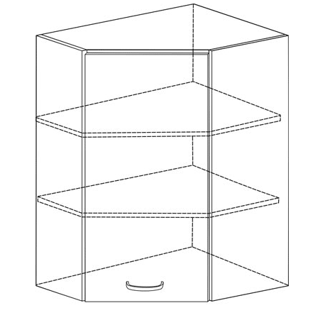 LAURA - Szafka górna narożna GN/60x60